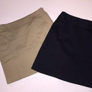 Lot of two Merona miniskirts sz6